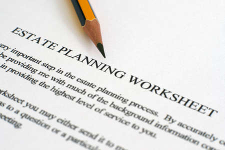 real estate planning: Estate plan sheet