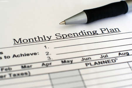 personal organizer: Monthly spending plan