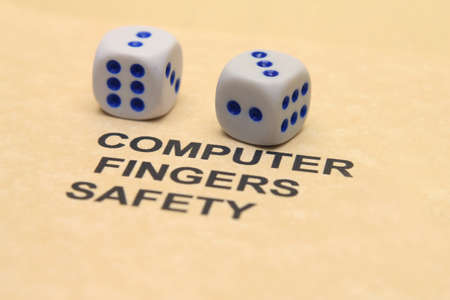 Computer safety concept Stock Photo - 12552394