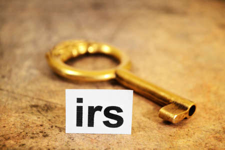 Irs and key concept Stock Photo - 12552391