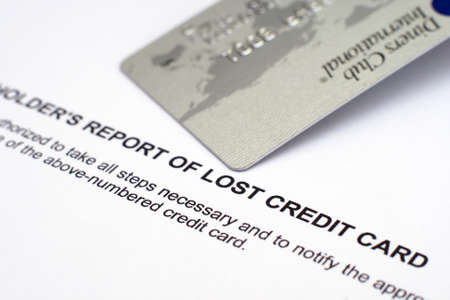 Report of lost credit card