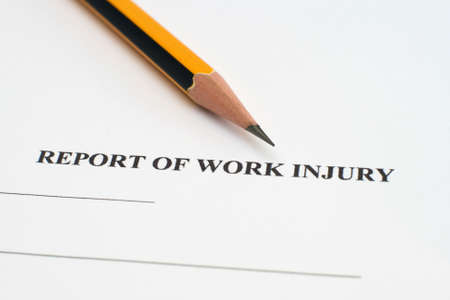 Report of work injury Stock Photo - 12547614