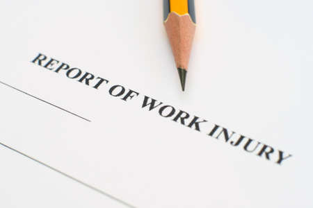 Report of work injury Stock Photo - 12547612