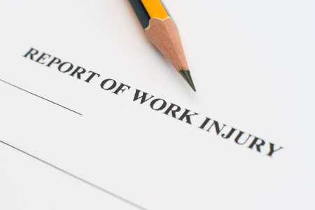 Report of work injury Stock Photo - 12547621