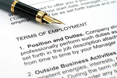 Employment contract Stock Photo - 12559121