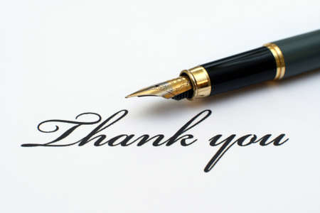 written communication: Thank you