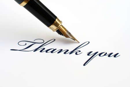 hand written: Thank you