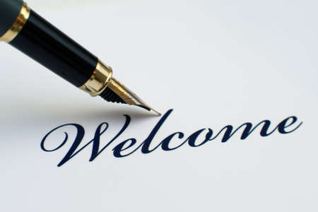 welcome sign: Welcome