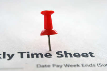 Time sheet Stock Photo - 12559010