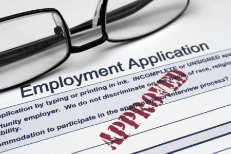 Employment application Stock Photo - 12558950
