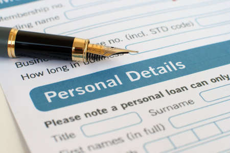 Loan form Stock Photo - 12559001