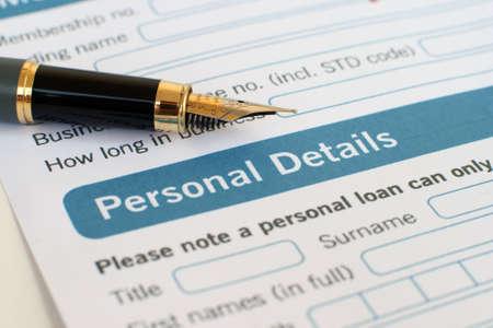 mortage: Loan form Editorial