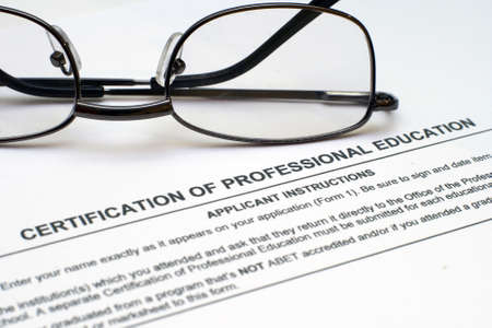 Professional experience form Stock Photo - 12558876