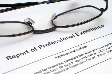 Professional experience form Stock Photo - 12558867