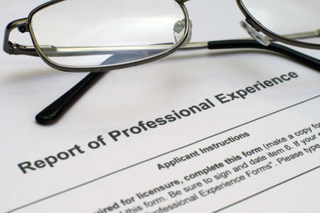 Professional experience form Stock Photo - 12558903