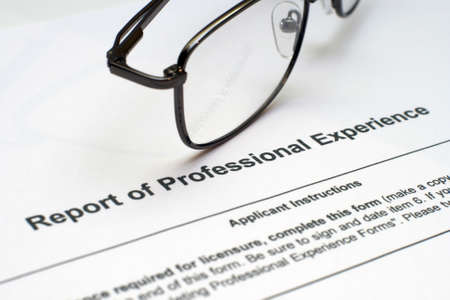 Professional experience form Stock Photo - 12558898