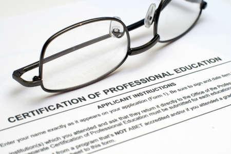 Professional education form Stock Photo - 12558877