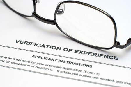 Verification of experience Stock Photo - 12558869