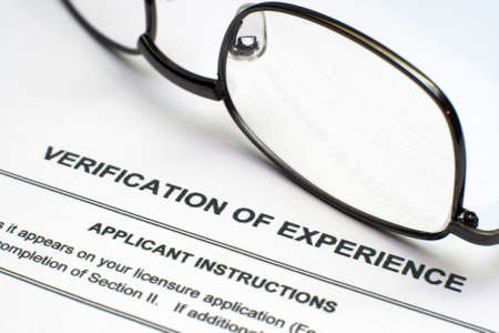 Verification of experience Editorial