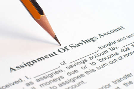 Assignment of savings account