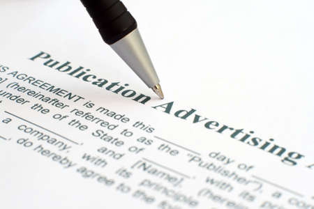 Publication advertising form