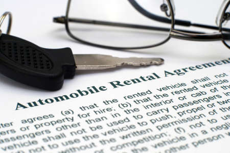 AUtomobile rental agreement photo