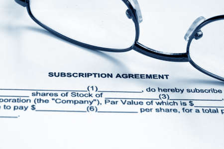 Subscription agreement Stock Photo - 12558637