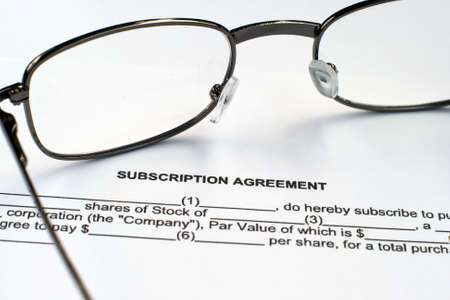 subscription: Subscription agreement Editorial