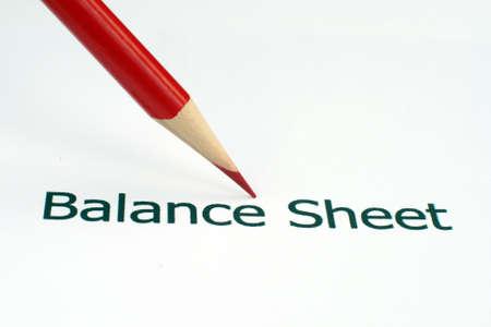 Balance sheet photo