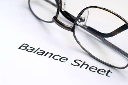 Balance sheet Stock Photo - 12558678