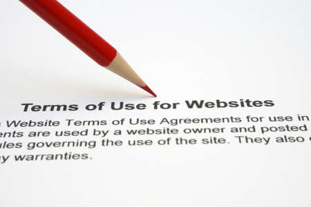 Terms of use websites Stock Photo - 12558695