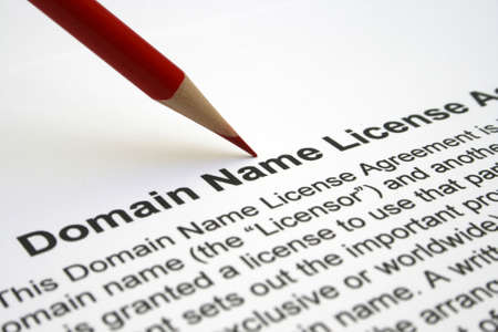 Domain name license agreement Stock Photo - 12558659