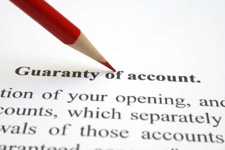 guaranty: Guaranty of account