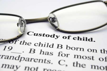 in custody: Custody of child