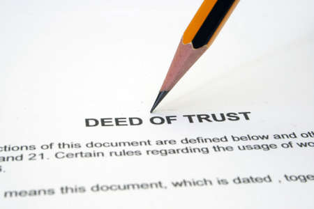 notary: Deed of trust Stock Photo