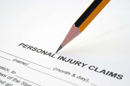 Personal injury claim photo