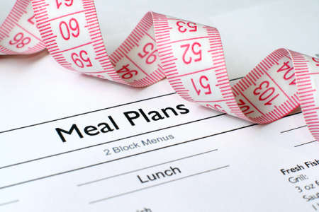 Meal plan Stock Photo