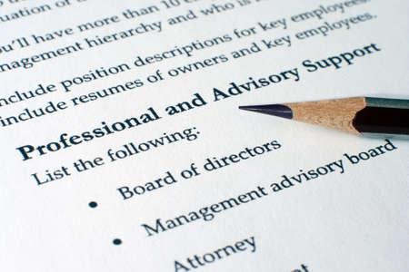 advisory: Advisory support Stock Photo
