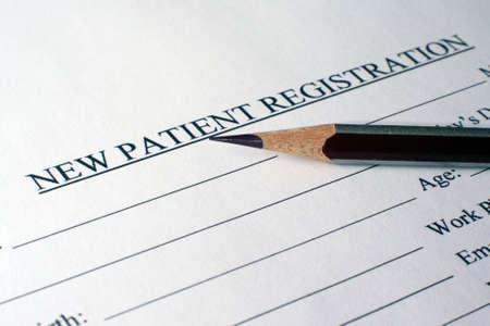 Patient registration form photo