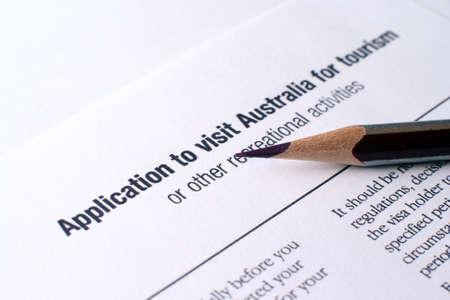 Australian visa form photo