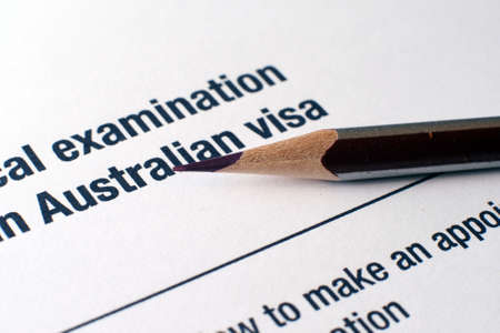 Australian visa form Stock Photo