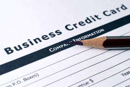 Credit card application photo