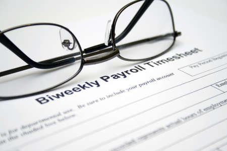 Biweekly payroll timesheet Stock Photo