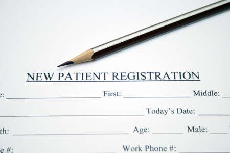 historia clinica: Formulario de registro del paciente