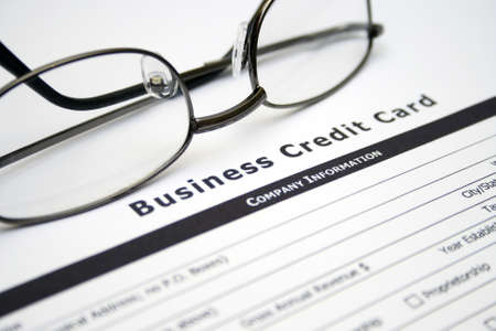 Business credit card application photo