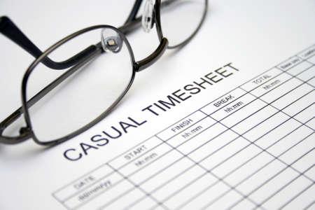 timekeeping: Casual timesheet
