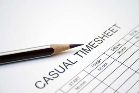 Casual timesheet Stock Photo - 12983993