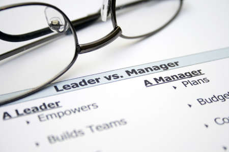 opting: Leader versus manager