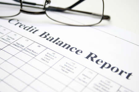 Credit balance report Stock Photo - 12984002