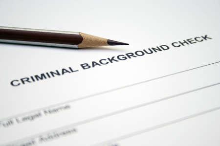criminal act: Criminal background form